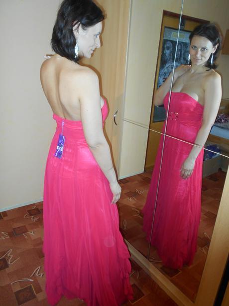 Růžové družičkovské šaty 2ks vel.36,38 , 38
