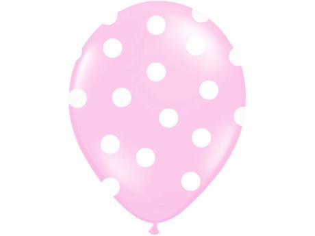 Balónky puntík pastel - sv. růžová,
