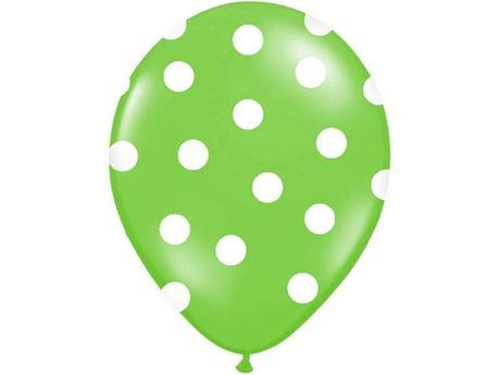Balónky puntík pastel - zelená,