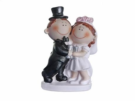 Figurka novomanželé baculky  10,5cm,