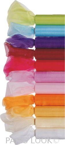 Organza sněžná 0,16x9m - různé barvy,