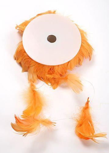 Pírka na drátku  10m, oranžová,
