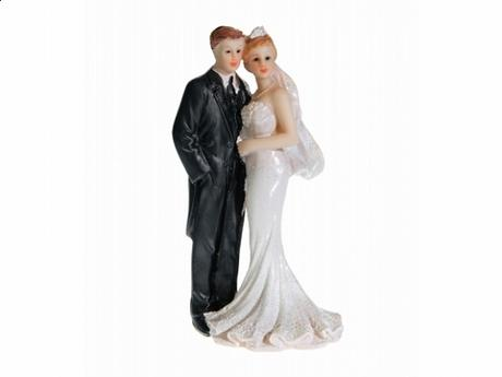 Svatební figurka novomanželé 11cm,