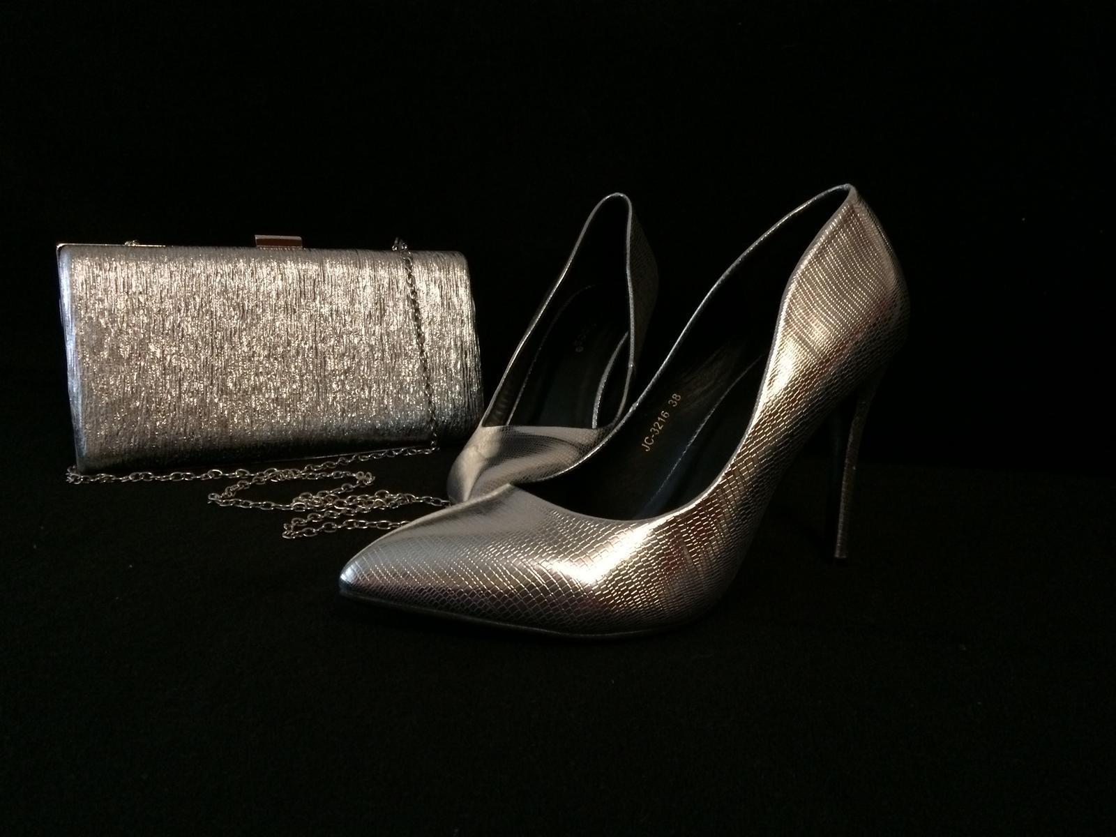 99c98dd2a14a Strieborné topánky   kabelka strieborná