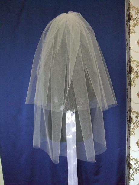 Svadobny zavoj 2-vrstvovy biely/ivory 95/65,