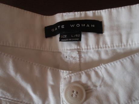 Bílé 3/4 kalhoty, 40