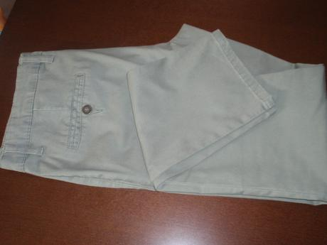 Olivově zelené kalhoty Chino, 42