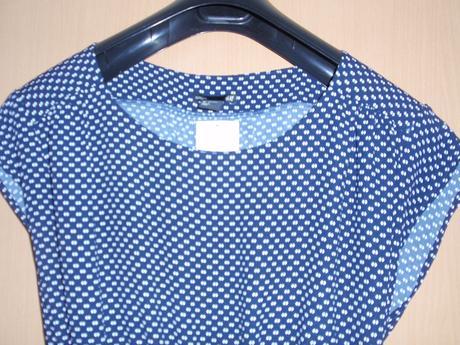 Těhotenské modro-bílé šaty, L