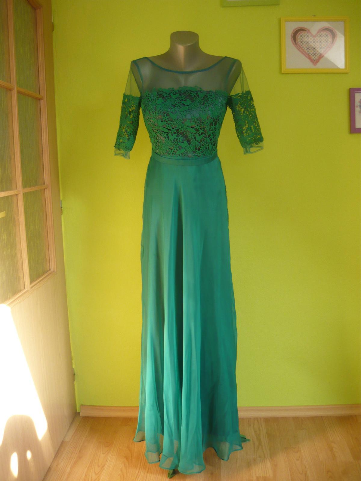 Smaragdovozelené šaty 6cfac4703e4