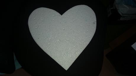 Polystyrenové srdce ,