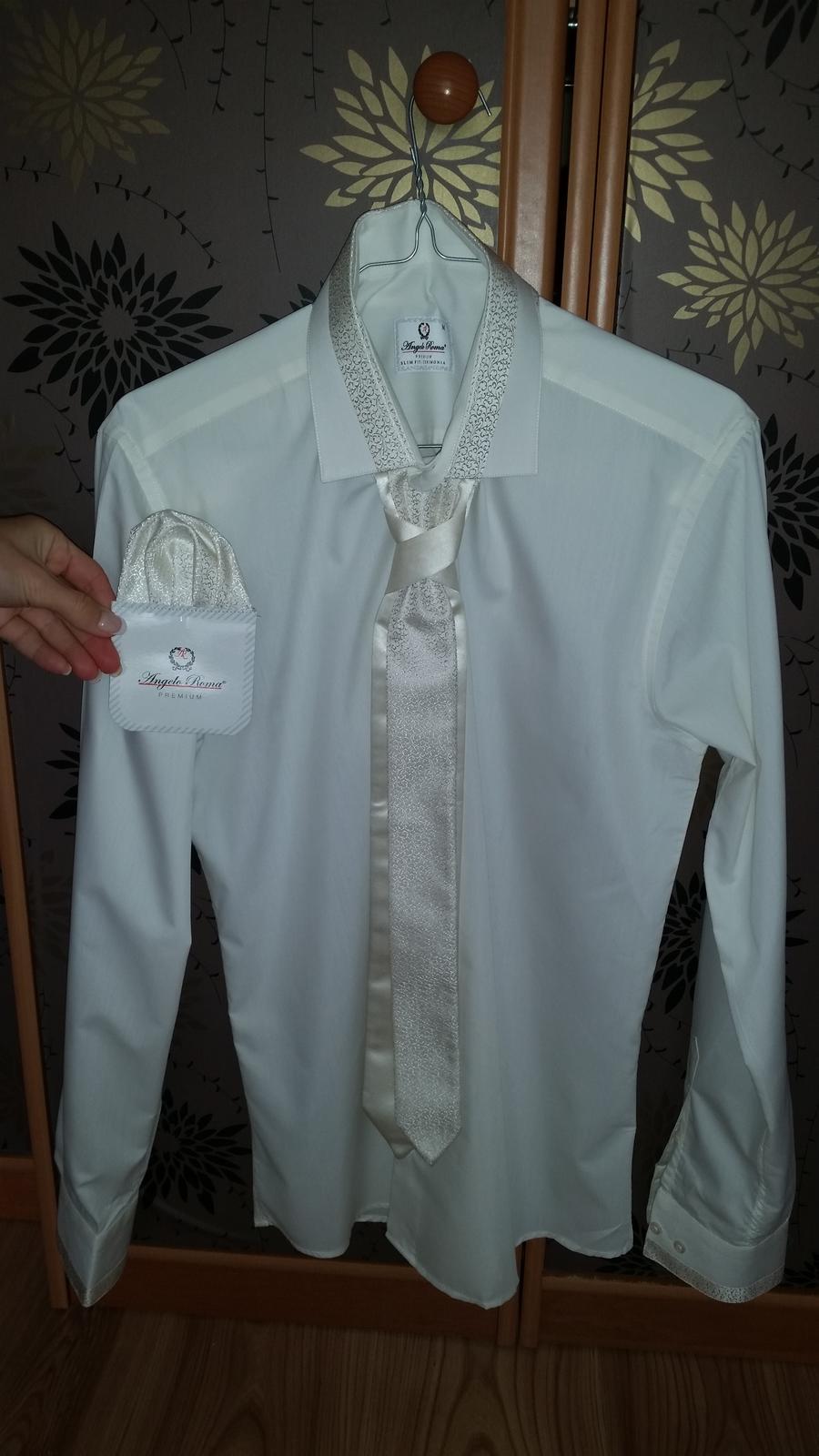 3407334cc621 Košela pre ženícha set - prírodná biela