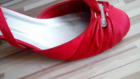 Svadobné červené topánky, 40