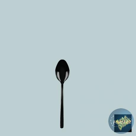 Finger food mini lžička - 100 mm černá,