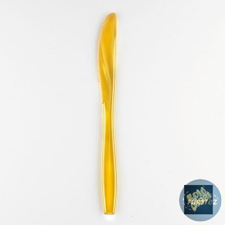Luxusní nůž různé barvy - 190 mm zlatá,