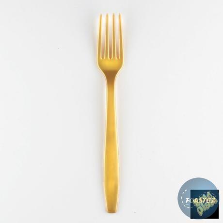 Luxusní vidlička různé barvy - 190 mm zlatá,