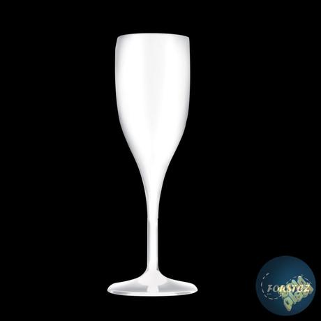 Sklenice FLUTE šampaňské nerozbitná bílá,