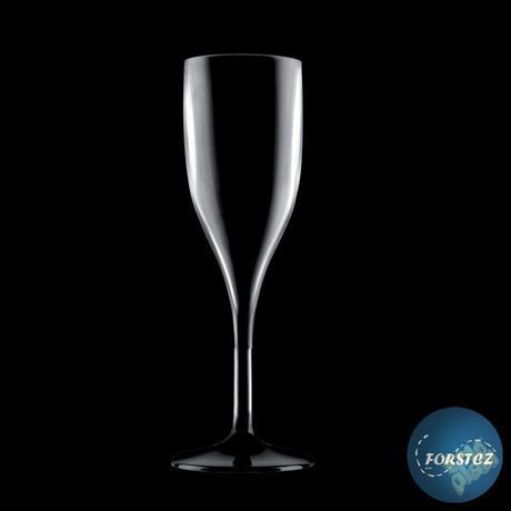 Sklenice FLUTE šampaňské nerozbitná černá,