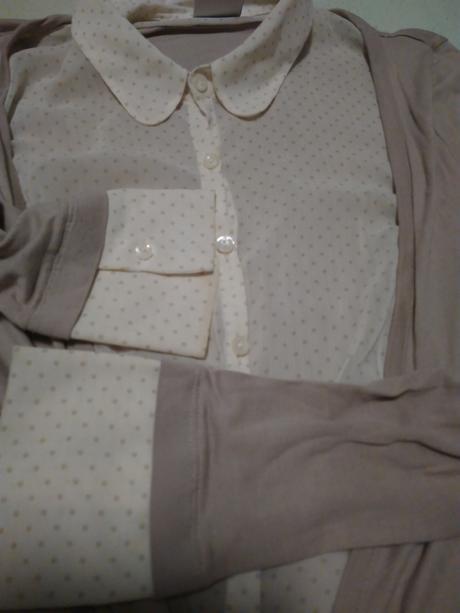 Retro košeľa  s golierom xs-s na zavezovanie, 34
