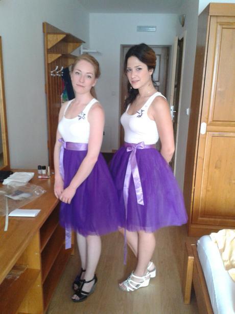 Akari sukně fialová,