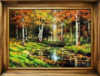 Obraz I.I.Šiškina Jesenné brezy ,