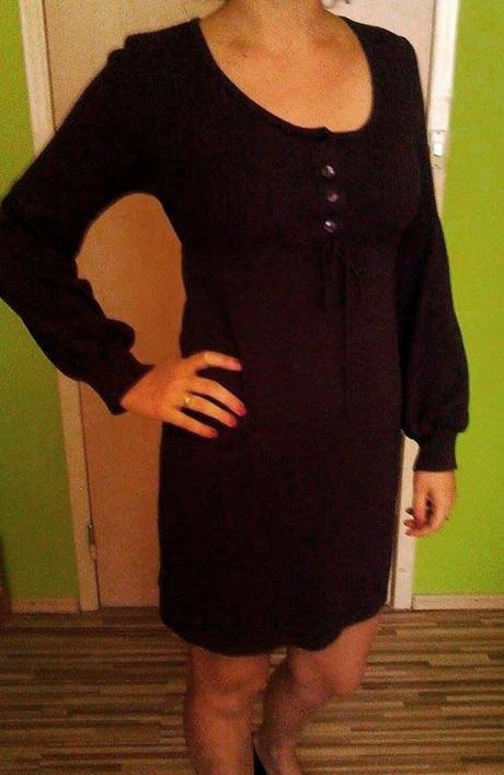Pletené fialové šaty, 38