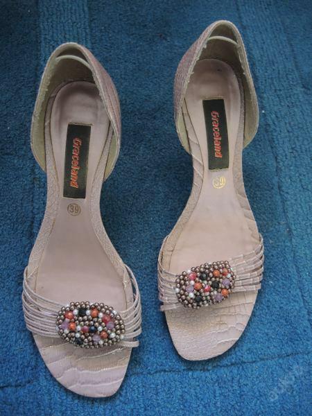 Starorůžové sandálky na podpadku, 39