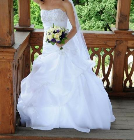 Svatební šaty  34-38, 34