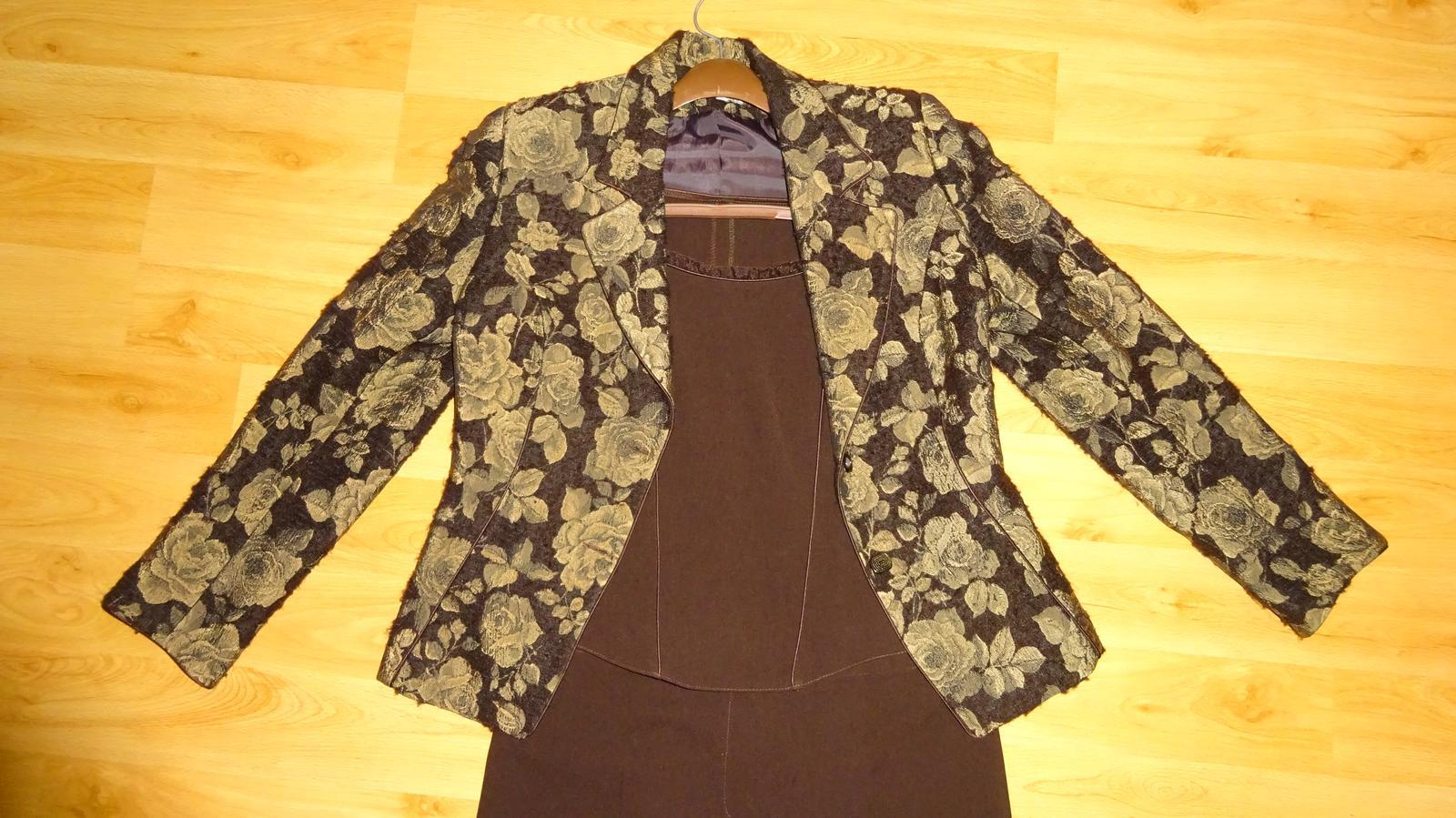 Hnedý nohavicový kostým -3 kombinácia b0935a50c1d