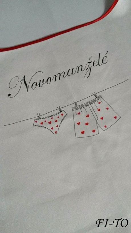 Bryndák pro novomanžele prádlová šňůra,