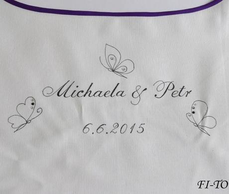 Bryndák pro novomanžele s motýlky,