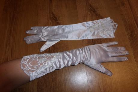 Svadobné rukavičky pre nevestu,
