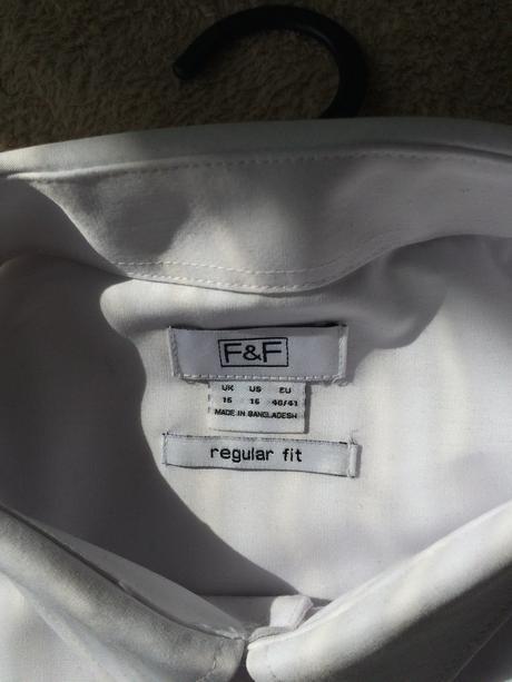 Biela pánska košeľa s krátkym rukahom, 40