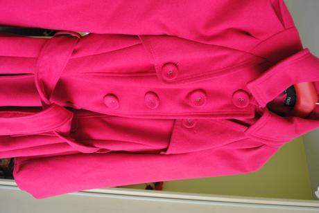 nextový cyklámenový kabátik, 37