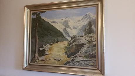 Horská krajinka - maľovaný obraz,