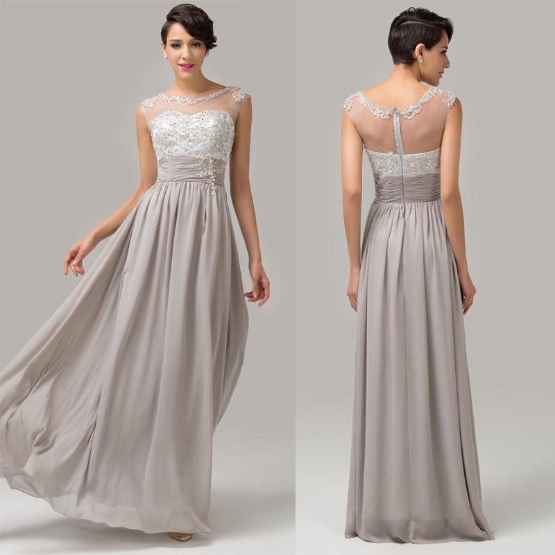 f8ca400ed1d1 Spoločenské šaty sivé   32-34-36 do 48 hodín