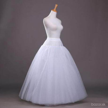 Biela spodnica trojkruhová s tylom - S -XXL , 44