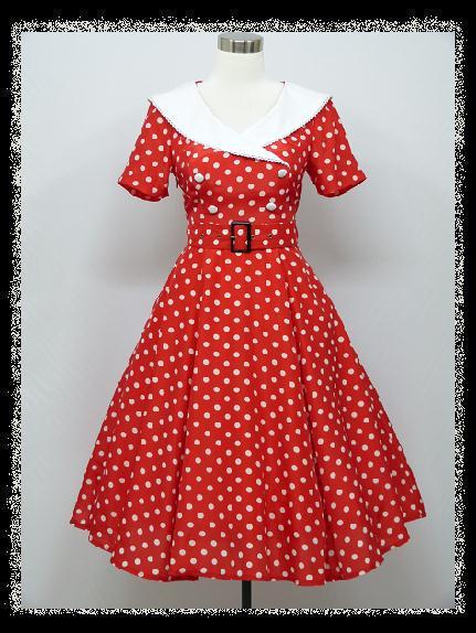 c6077accfe25 Červeno-biele retro šaty aj pre moletky - 36-48