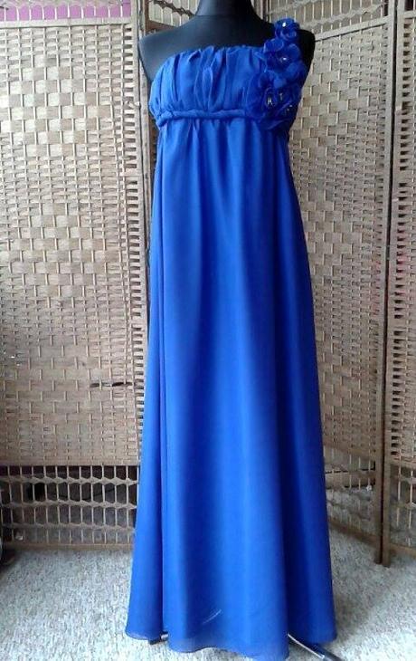 Dlhé spoločenské šaty modré   l-xl do 48 hod. b6cb633505a