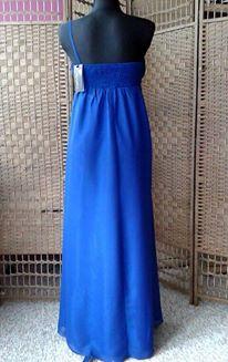 Dlhé spoločenské šaty modré _ L-XL do 48 hod., L