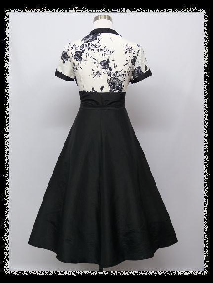 240e308eaace Krátke čierno- biele šaty aj pre moletky- 44- 48
