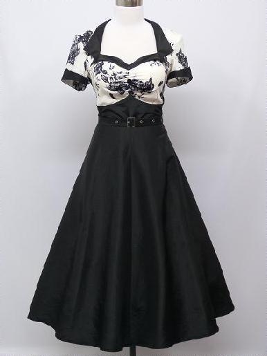 b5d64ff001d4 Krátke čierno- biele šaty aj pre moletky- 44- 48