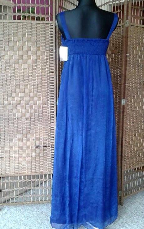 Spoločenské šaty modré - l -xl 810309a98b8
