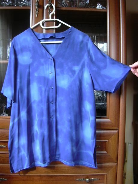 dámská modrá košile/ halenka, 48