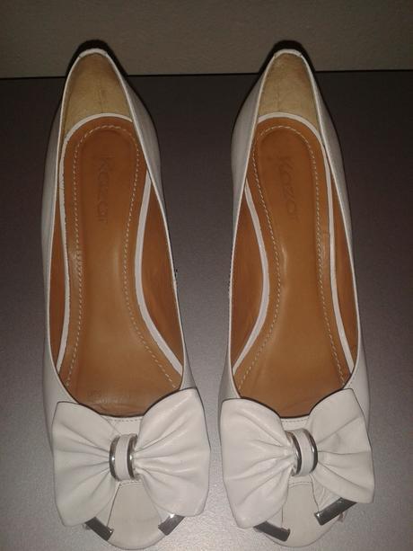 Svatební boty na klínku značky Kazar, 37