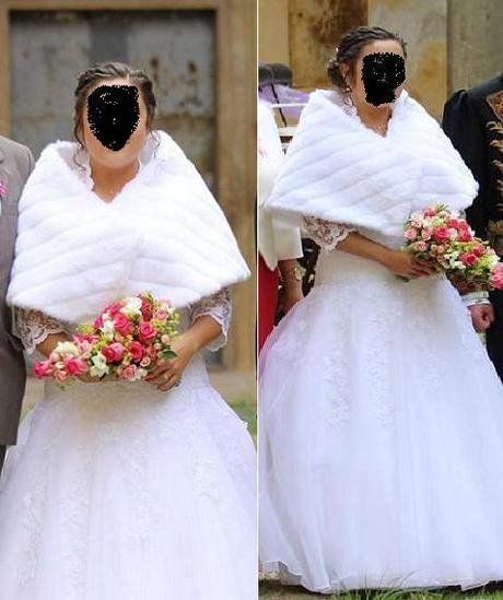 Svatební bolerko - pelerína,
