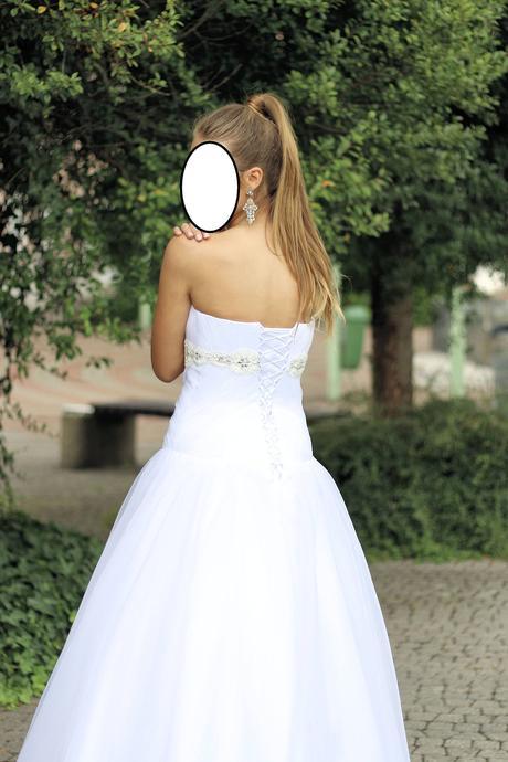 Bílé svatební šaty vel. 38/40, 38