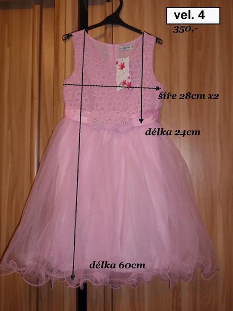 Dětské šaty růžové , 104