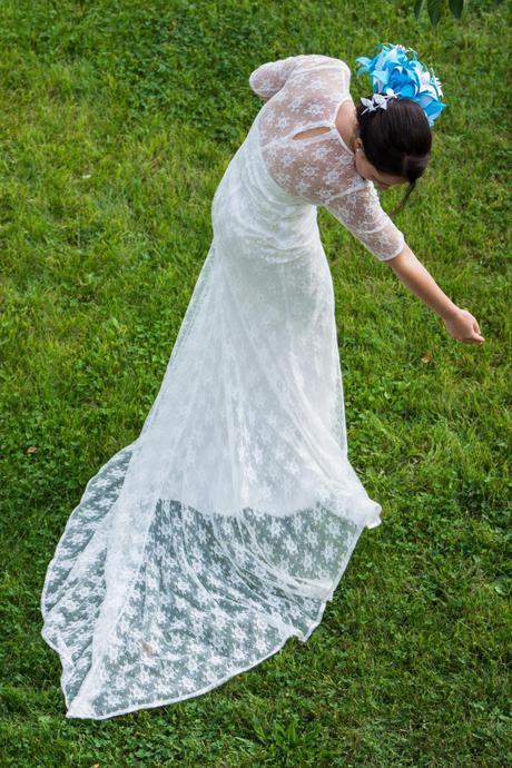 Svatební šaty - styl vintage, 38
