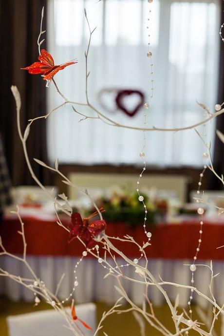 Stromčeky na svadobné stoly,