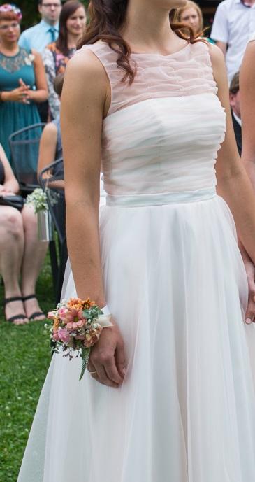 Svatební šaty 36 - kvalitní materiál, 36